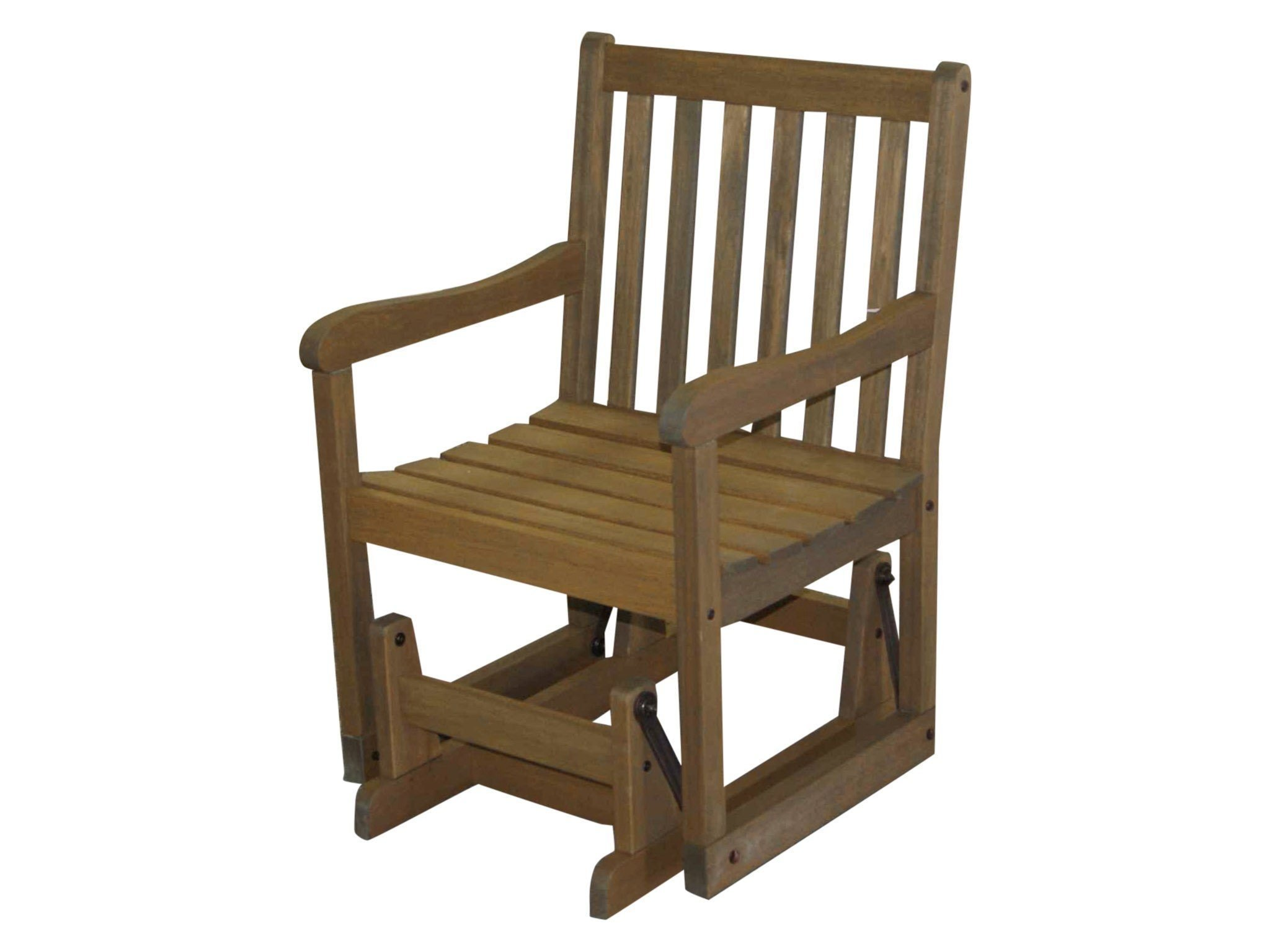 Timbo Vila Rica Hardwood Outdoor Patio Glider, Glider, Brown by Timbo