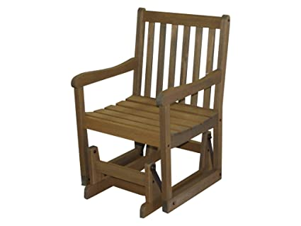 Timbo Vila Rica Hardwood Outdoor Patio Glider, Glider, Brown