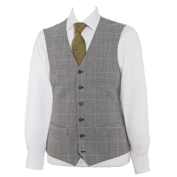 Peaky Blinders & Boardwalk Empire: Men's 1920s Gangster Clothing Samuel Windsor Mens Tweed Waistcoat £39.00 AT vintagedancer.com