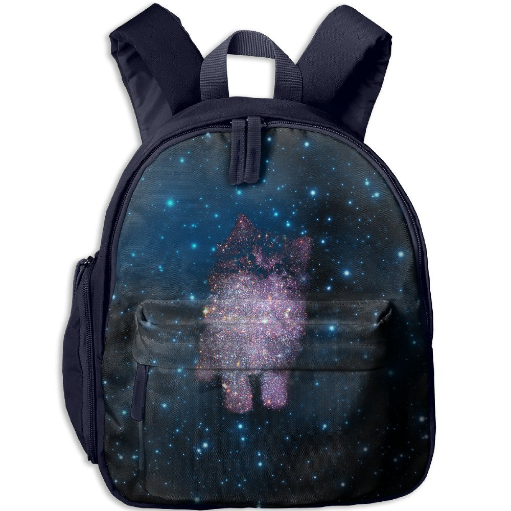 Cat Galaxy Cool Boys Casual Lightweight Canvas Backpacks School Rucksack Travel Backpack. by Papar