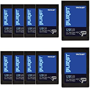 "Patriot Burst SSD 120GB Burst, 2.5"" Internal Solid State Drive, SATA III, 6Gbps - Retail 10 Pack - PBU120GS25SSD10"