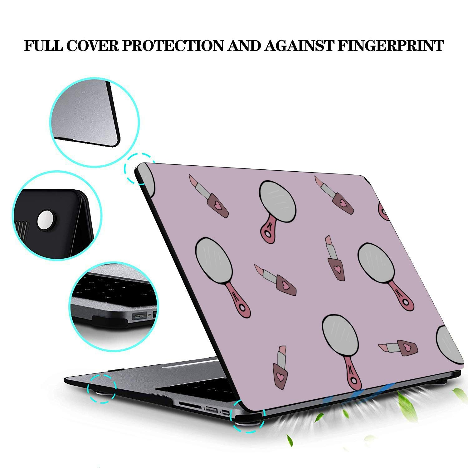 MacBook Pro 15 Case Small Objects Beauty Dressing Mirror Plastic Hard Shell Compatible Mac Air 11 Pro 13 15 MacBook Air Laptop Cover Protection for MacBook 2016-2019 Version