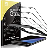 HATOSHI 3 Pack Screen Protector Compatible with Samsung Galaxy S7 Tempered Glass Film- Alignment Tray Easy Installation Case