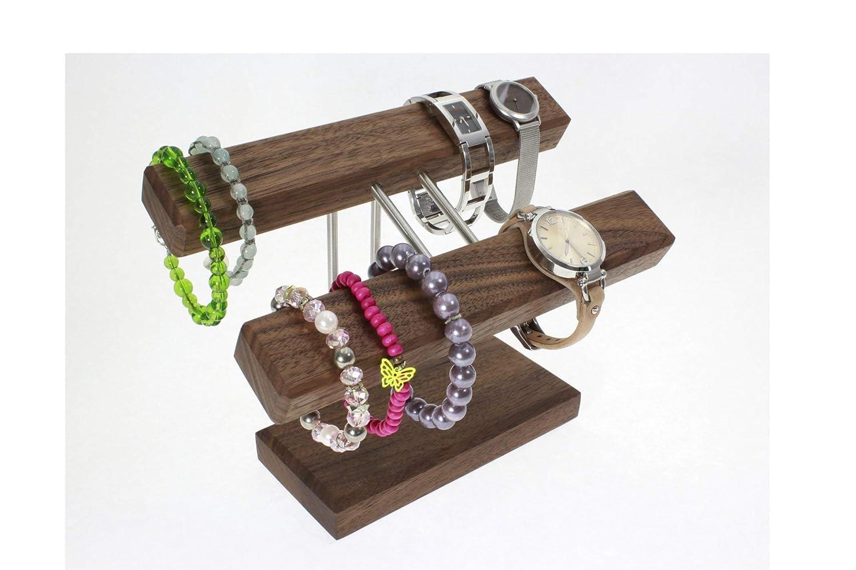 Uhrenhalter Armbandhalter Schmuckhalter Schmuckständer Nussbaumholz Handmade in Germany