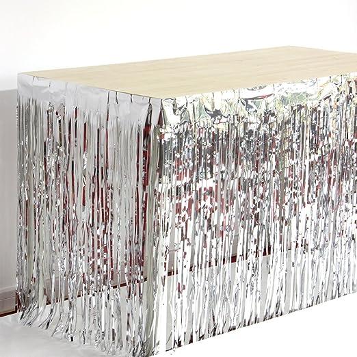 SUNBEAUTY – faldones de aluminio con flecos para mesa de 74 cm x ...