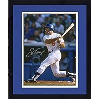"$135 » Framed Steve Garvey Los Angeles Dodgers Autographed 16"" x 20"" Hitting Photograph - Autographed MLB Photos"