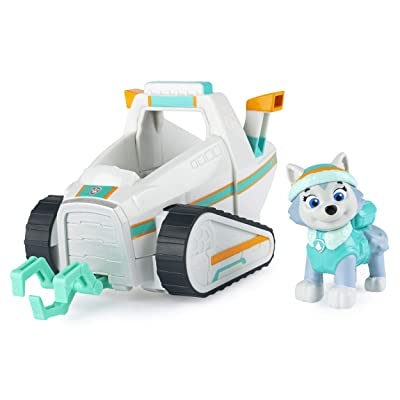 Paw Patrol, Everest's Snow Plow Vehicle with Collectible Figure, for Kids Aged 3 and Up, Multicolor: Toys & Games