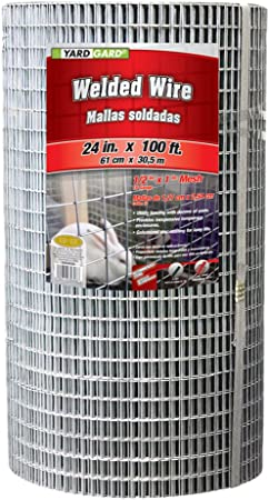 Amazon Com Yardgard 309303a 24 Inch By 100 Foot 16 Gauge 1 2 Inch And 1 Inch Mesh Galvanized Welded Wire Agricultural Fences Garden Outdoor