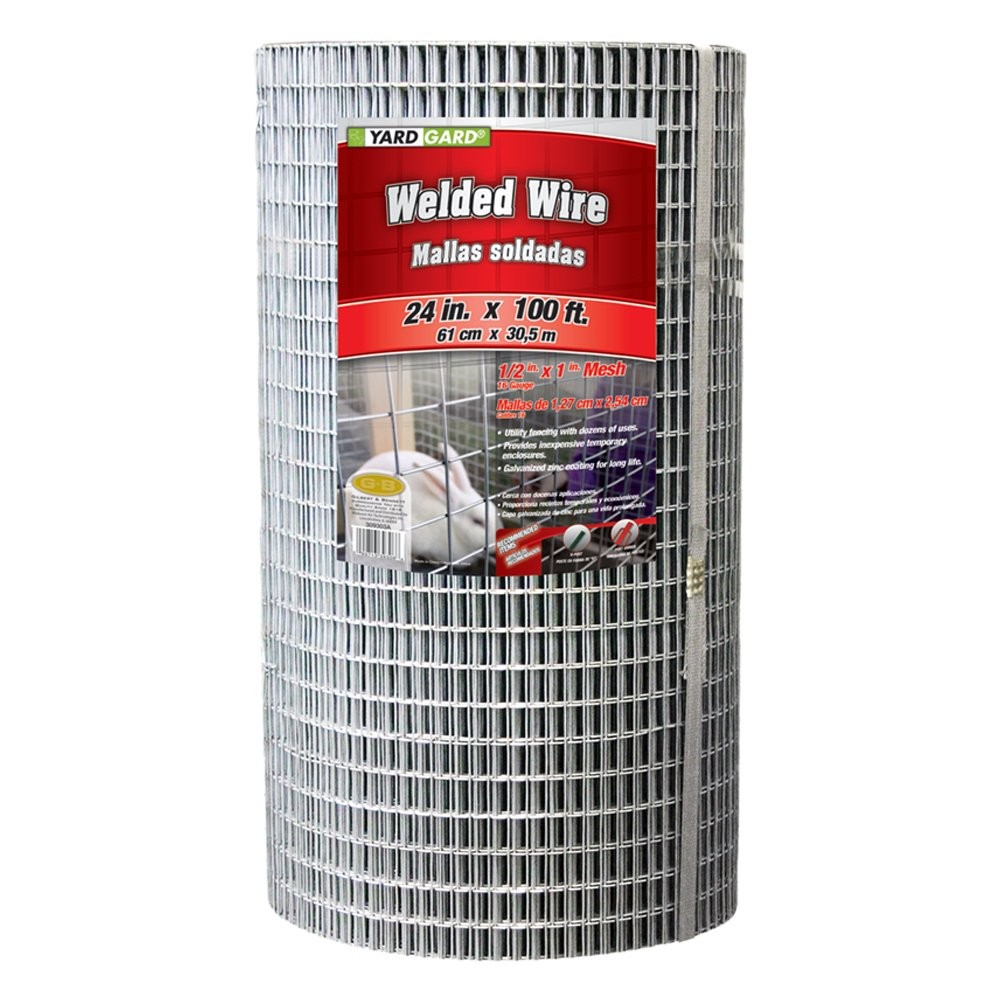 Amazon.com : YARDGARD 309303A 24 inch by 100 foot 16 gauge 1/2 inch ...