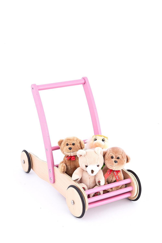 United Kids Lauflernwagen Laufwagen Mia aus Holz rosa