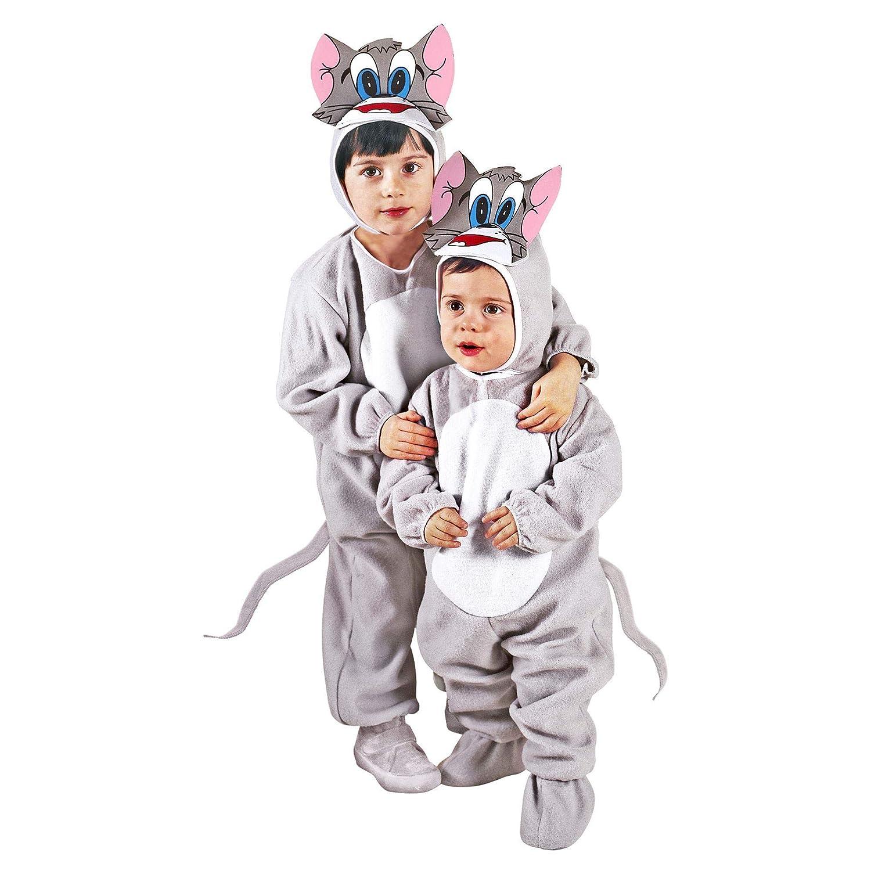 WIDMANN - Disfraz de gato para niños, multicolor, 110 cm/3 - 4 ...