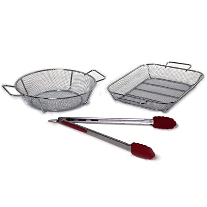 Amazon.com: grillmark cesta Set Acero Inoxidable 11