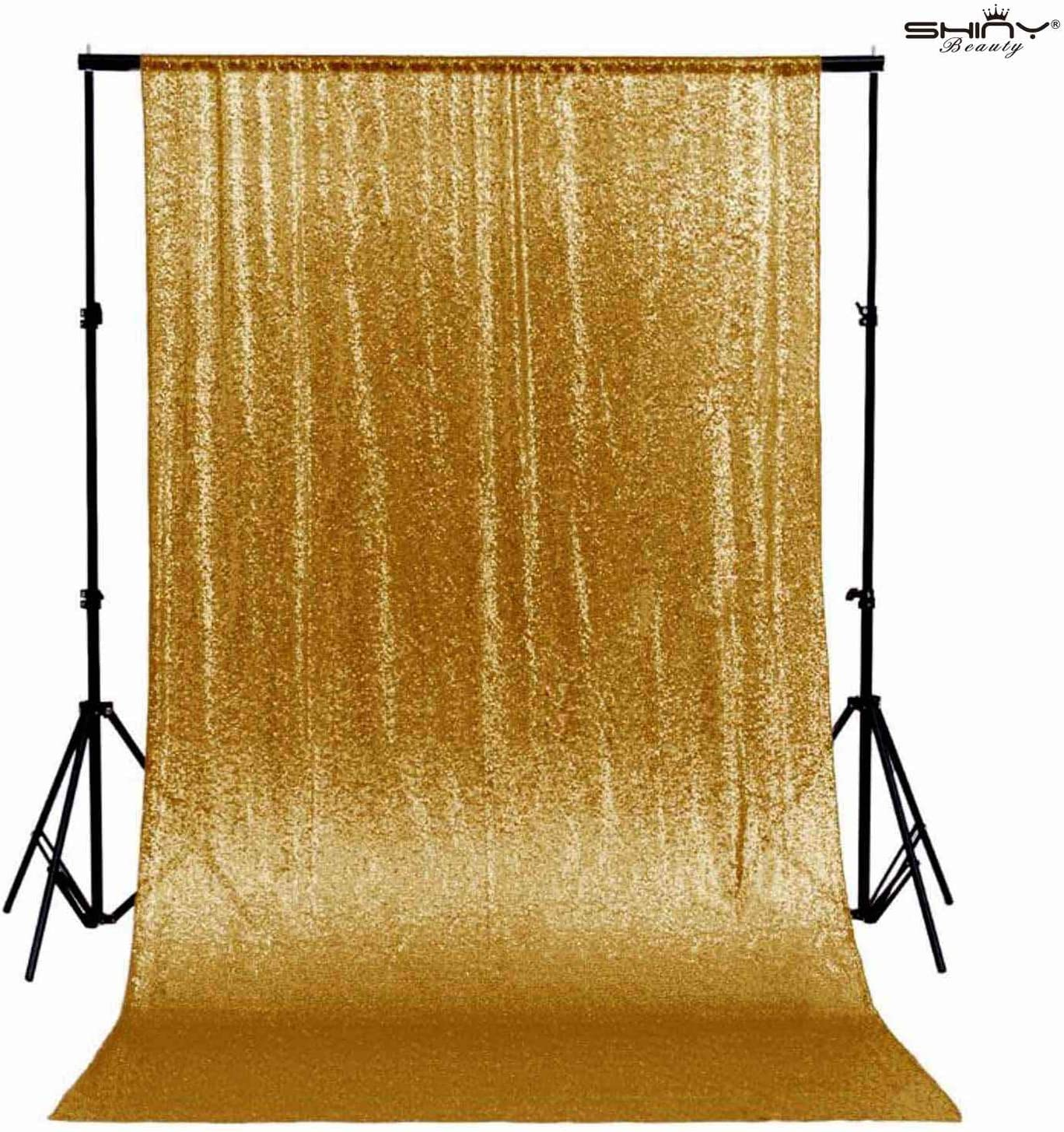 ShiDianYi 6FTX8FT Gold Shimmer Sequin Fabric Photography Backdrop