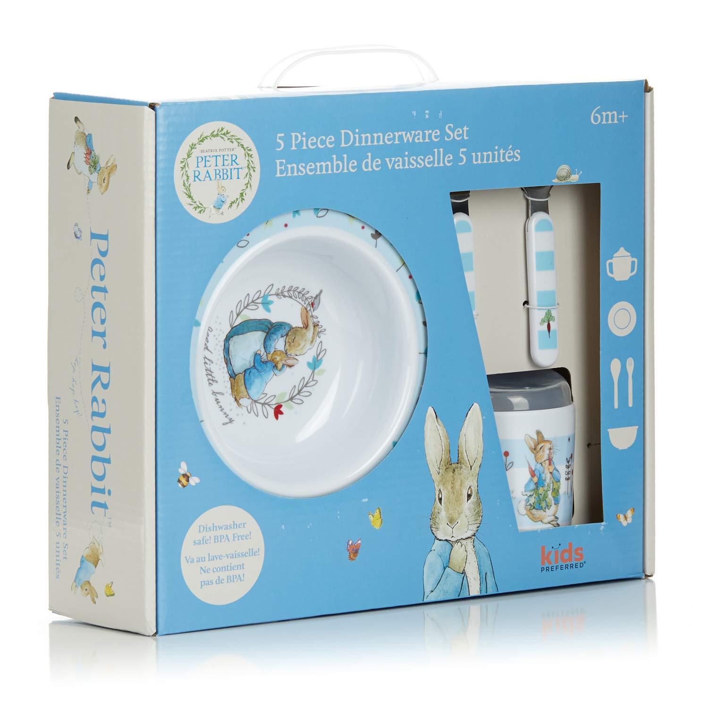 Beatrix Potter Peter Rabbit 5 Piece Melamine Dinnerware Set by Kids Preferred