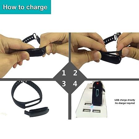 Padgene® ID01 [versión actualizada] - Pulsera inteligente de monitoreo de actividad física con podómetro, monitoreo del ritmo cardíaco, monitoreo del sueño, ...