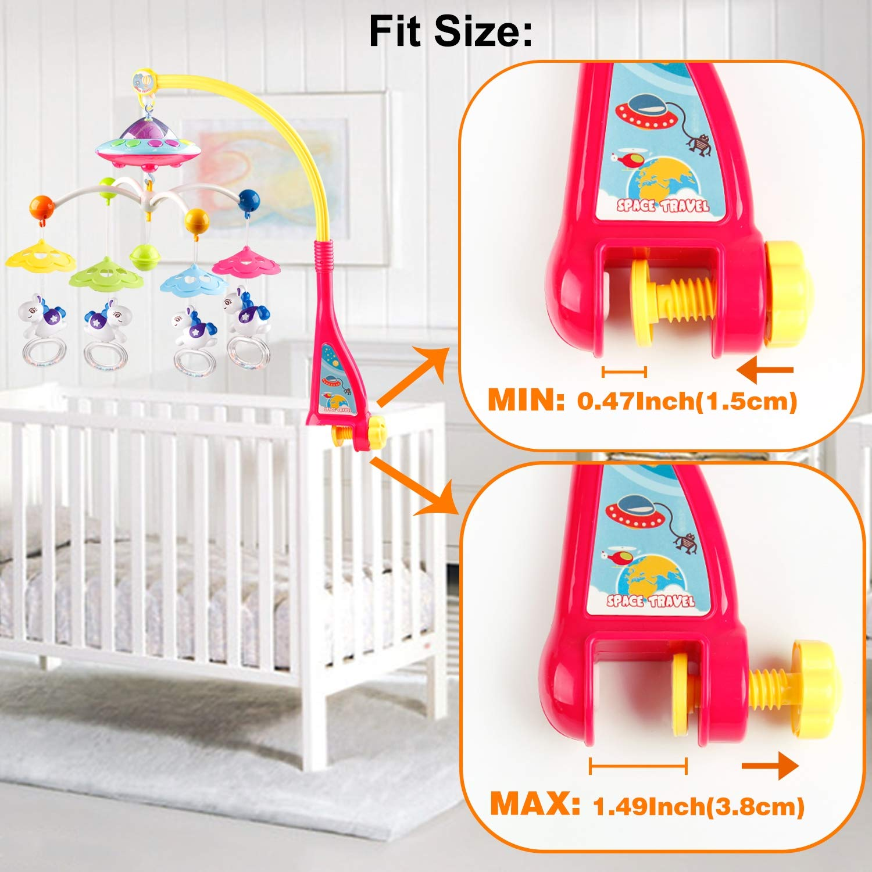 Mini Tudou baby crib musical mobile crib holder