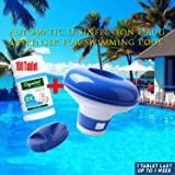 lonko5DING Magic Pool Cleaning Tablet & Floating Dispenser (100 Tablets 1 Bottle+Dispenser 1pc)