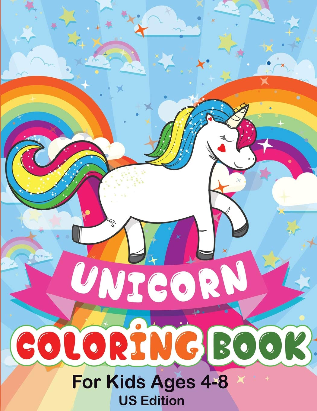 Buy Unicorn Coloring Book For Kids Ages 4 8 Us Edition 50 Pictures To Color Fun And Beautiful Unicorn Coloring Pages Books For Kids Book Online At Low Prices In India Unicorn