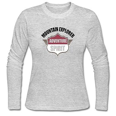 6b5c7a1b04e Amazon.com  WYLIN Women s Mountain Explorer Adventure Spirit Long Sleeve T- Shirt  Clothing