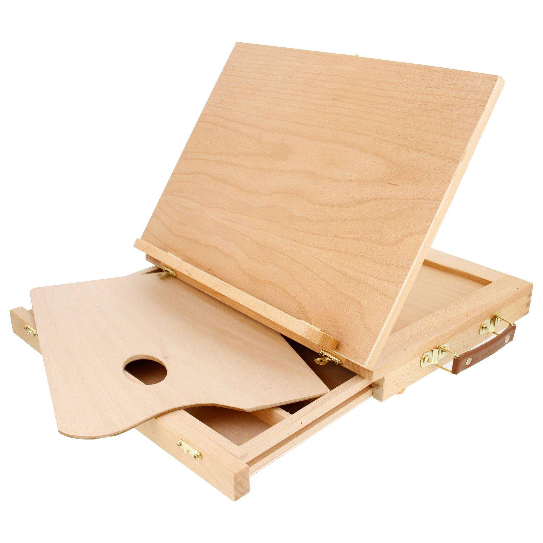 US Art Supply Solid Solana Adjustable Wood Desktop Table Easel ...