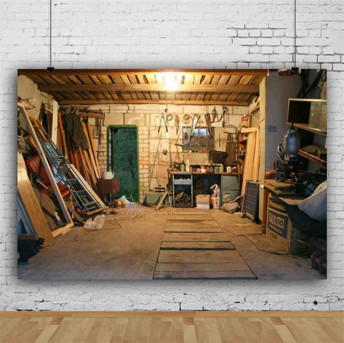 Yeele 10x8ft Western Saloon Wild Photography Background Gold Rush Dried Fish Bench Rope Board Cupboard Boiler West Brown Mottled Weathering Wooden Saloon Photo Backdrops Pictures Photoshoot