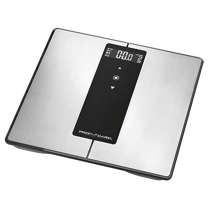 ProfiCare PW 3008 - Báscula baño digital Bluetooth con análisis corporal de 8 funciones diagnóstico,