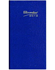 Brownline 2019 Daily Pocket Planner, Assorted Colours, English, 6 x 3-1/8, Colour May Vary (CB401.ASX-2019)