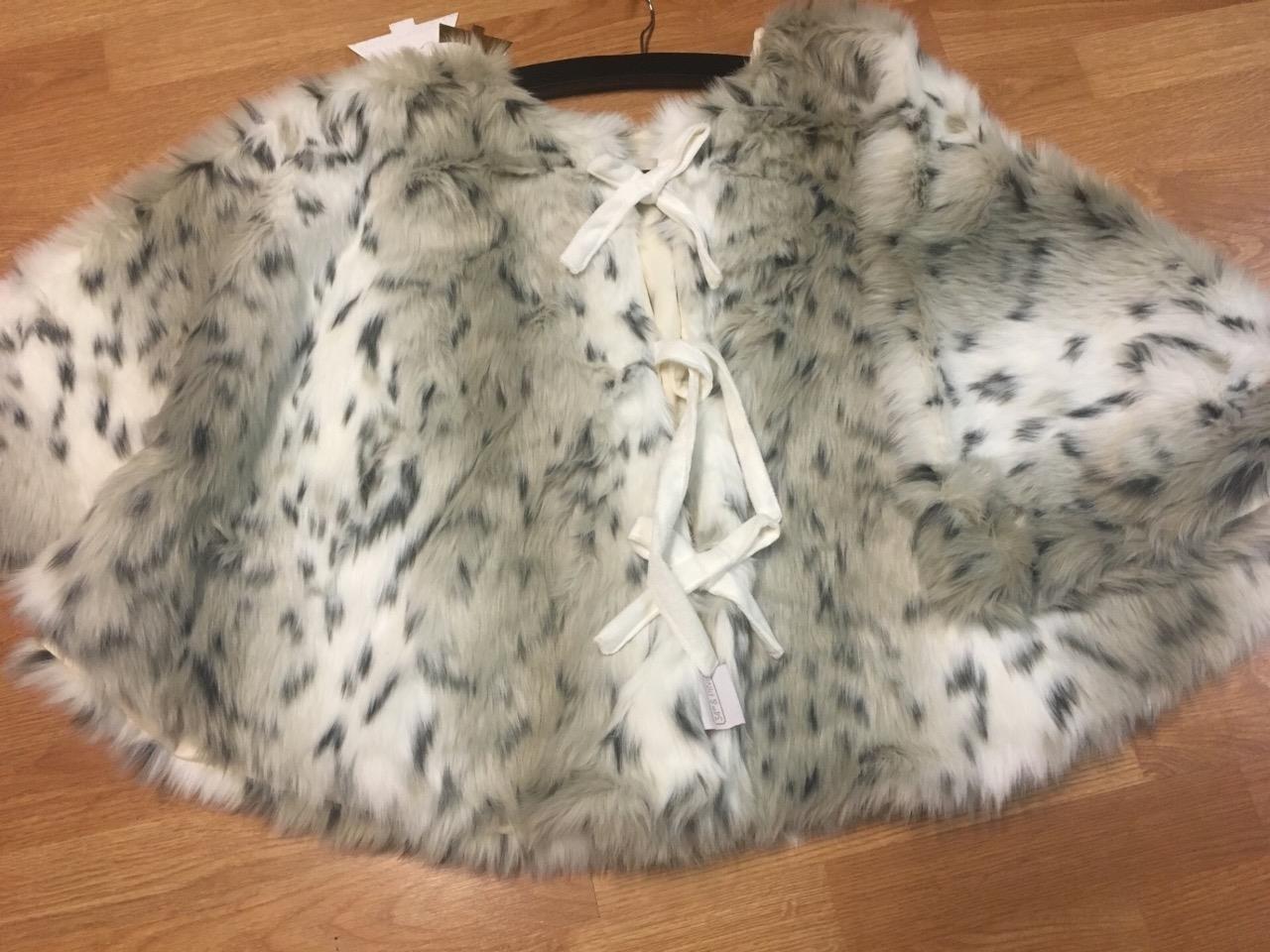 34th & Pine Luxury Polar Plush Faux Fur 52'' Christmas Tree Skirt - Snow Leopard