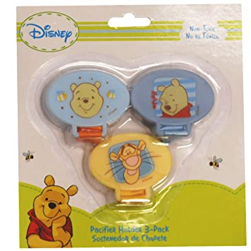 Amazon.com : Disney Winnie The Pooh Pacifier Holder 3 Pack ...