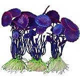 3 Stk. Simulation Aquatic Kunststoff Pflanzen Aquarium Ornament Schmuck-Purple