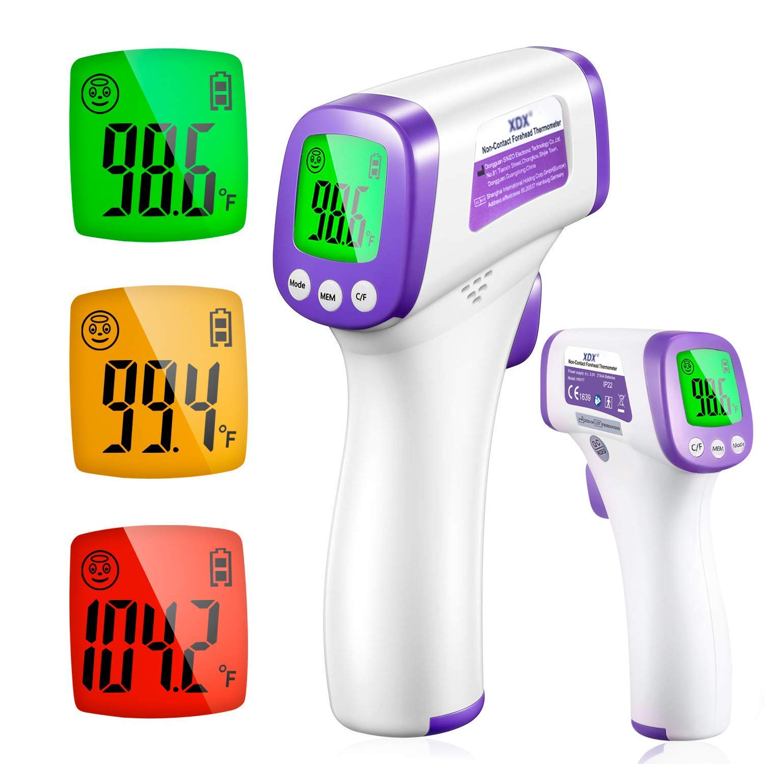 XDX Non Contact Infrared Forehead Digital Thermometer $6.99 Coupon