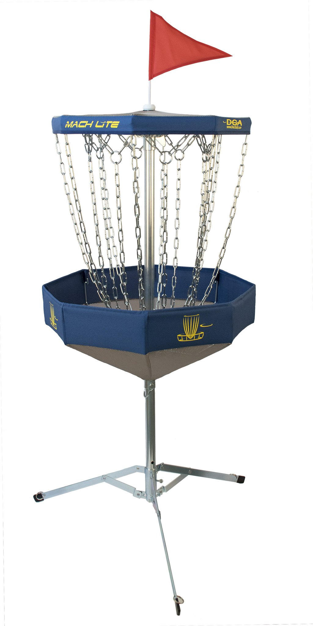 DGA Mach Lite Portable Disc Golf Practice Basket (Blue)