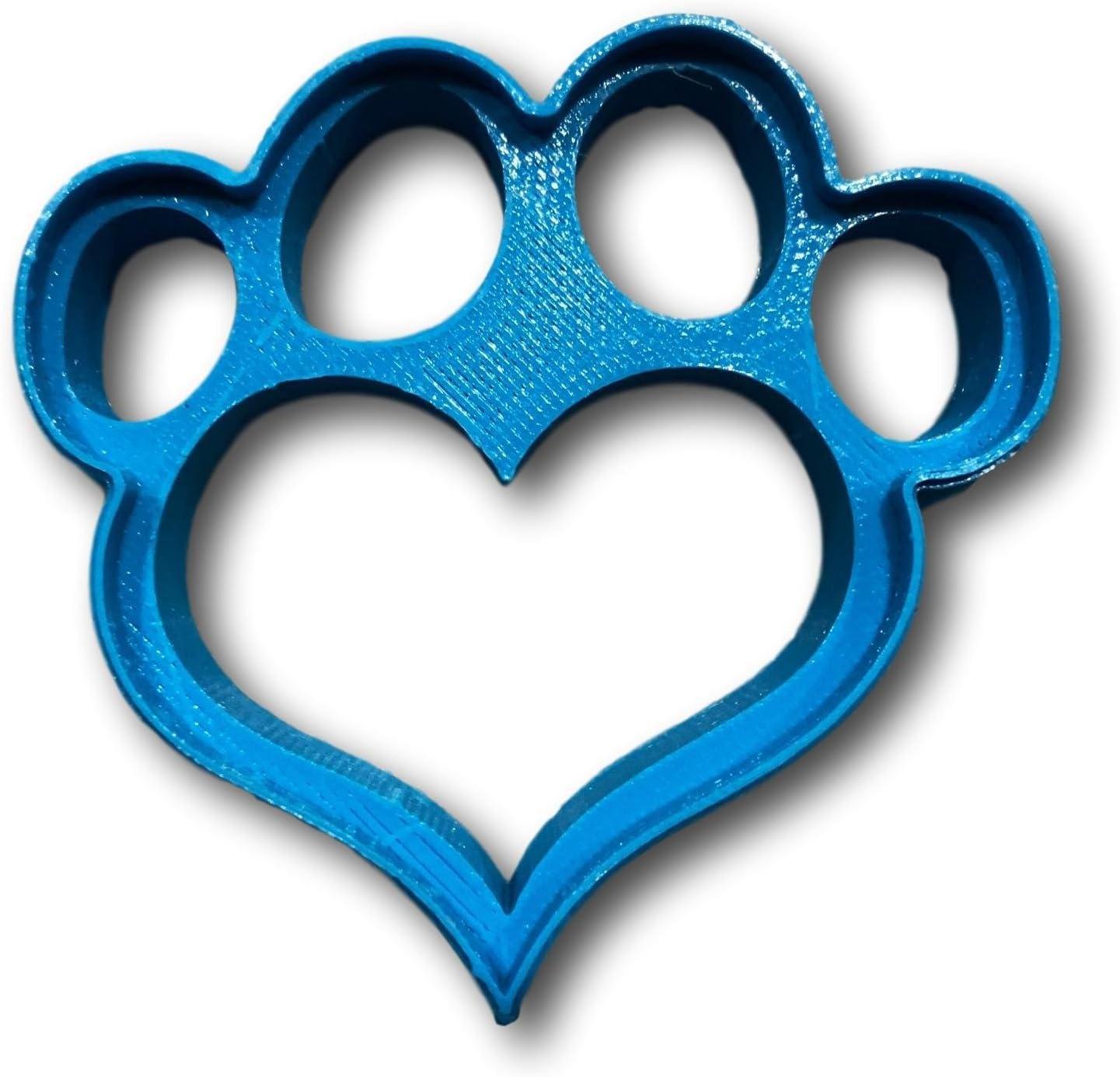 Cortador de galletas con forma de corazón para huellas de perro ...