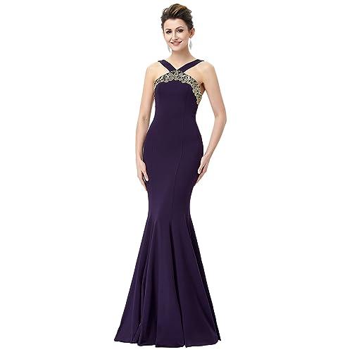 Dark Purple Prom Dress Long Amazon
