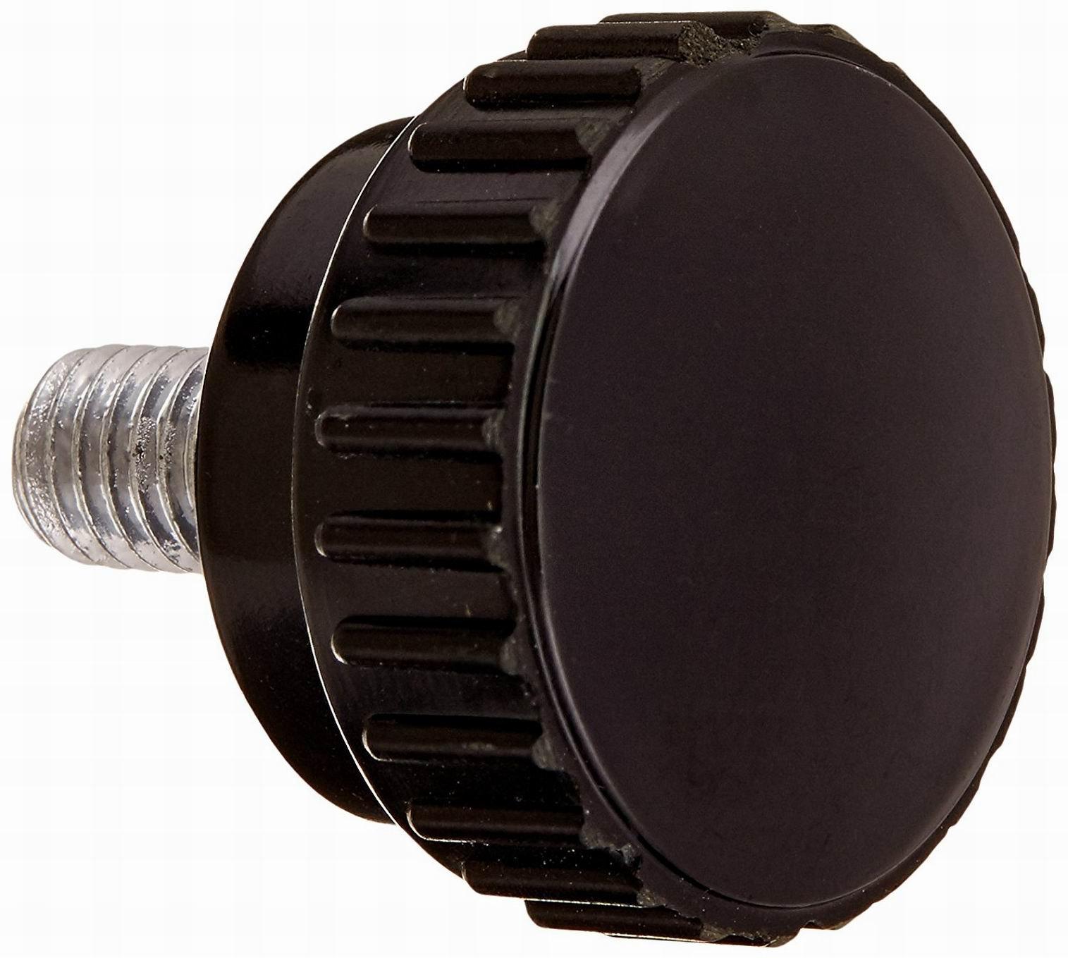 Houseuse 10Pcs 30mm Head M8 x 15mm Male Thread Screw On Type Knurled Knob,