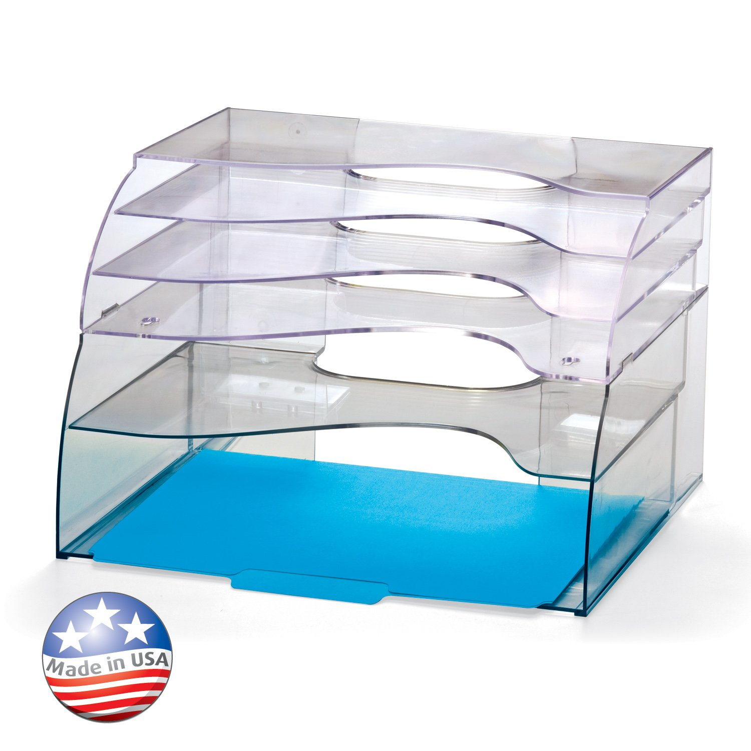 Officemate Two-Way Organizer, 5-Tier, Clear (22924)