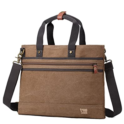 2147943552a3 Troop London Trp0390 Classic Canvas Messenger Bag with Top Handles  Amazon. in  Shoes   Handbags