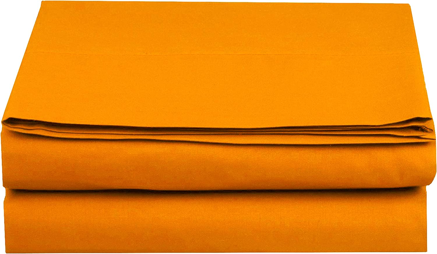 Stain-Resistant 100/% Hypoallergenic King Wrinkle-Free Elegant Comfort Premium Hotel 1-Piece Luxury and Softest 1500 Thread Count Egyptian Quality Bedding Flat Sheet Orange