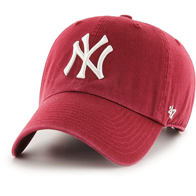 47 Gorra Brand Mlb New York Yankees Clean Up Curved V Relax Fit Granate Ajustable