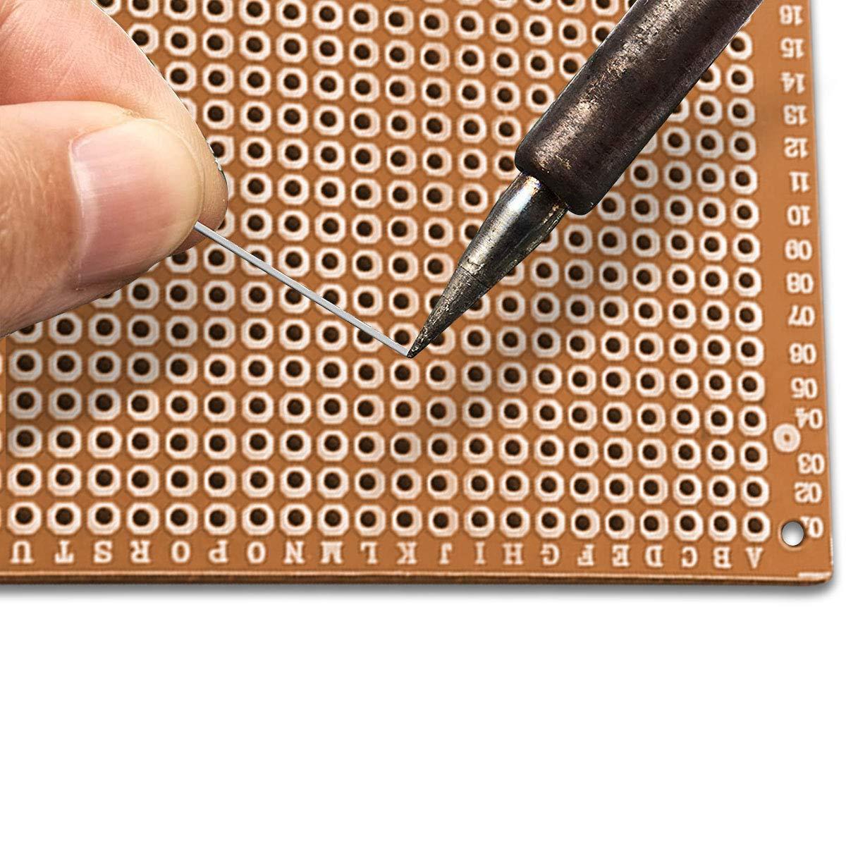 Universal-Leiterplatten,5 x 7cm Leiterplatte Universal PCB Prototyp Board f/ür Prototyping und elektronische Erstellung von Projekten GTIWUNG 12 St/ück PCB Board Prototype Lochrasterplatte Kit