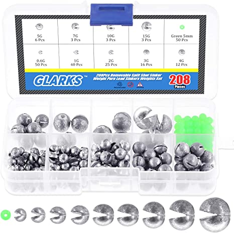 Lead Fishing Sinkers Lead Round Balls weights Quick Insert Fishing Leader