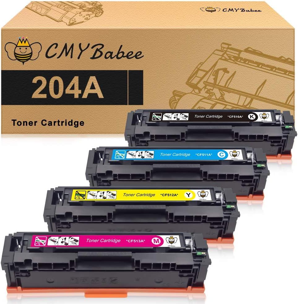 CMYBAbee Compatible Toner Cartridge Replacement for HP 204A CF510A CF511A CF512A CF513A M180nw Color Laserjet Pro Printer (Black, Cyan, Yellow, Magenta, 4-Pack)
