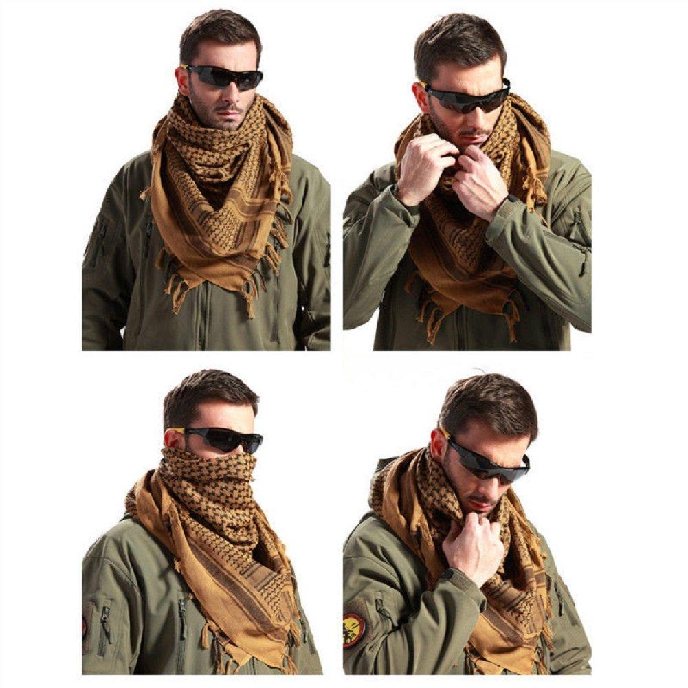 100/% Cotton SHEMAGH HEADSCARF Military Keffiyeh Arab Army Woven SAS Veil Wrap UK