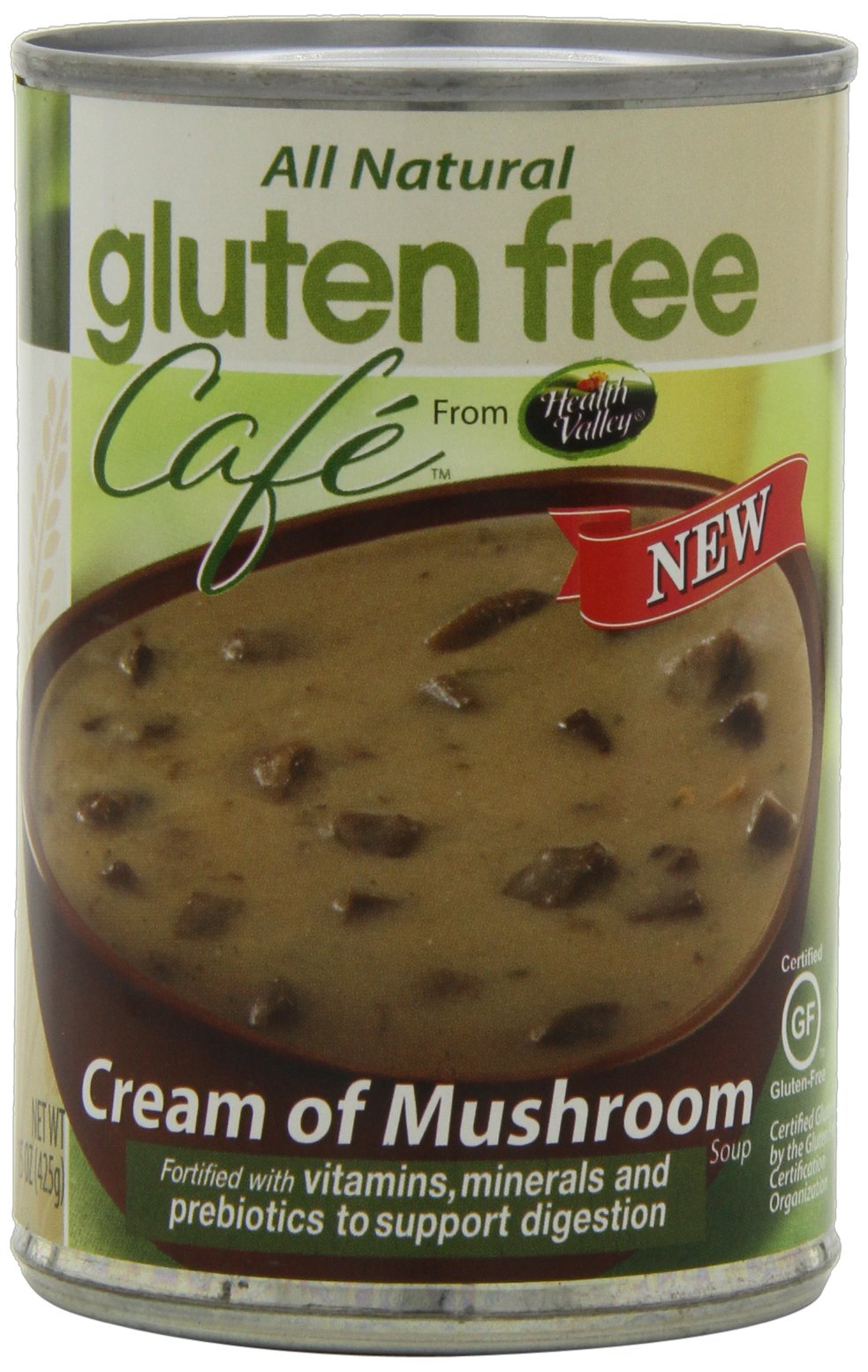 Gluten Free Cafe Cream of Mushroom Soup, 15 Ounce (Pack of 12) by Gluten Free Cafe
