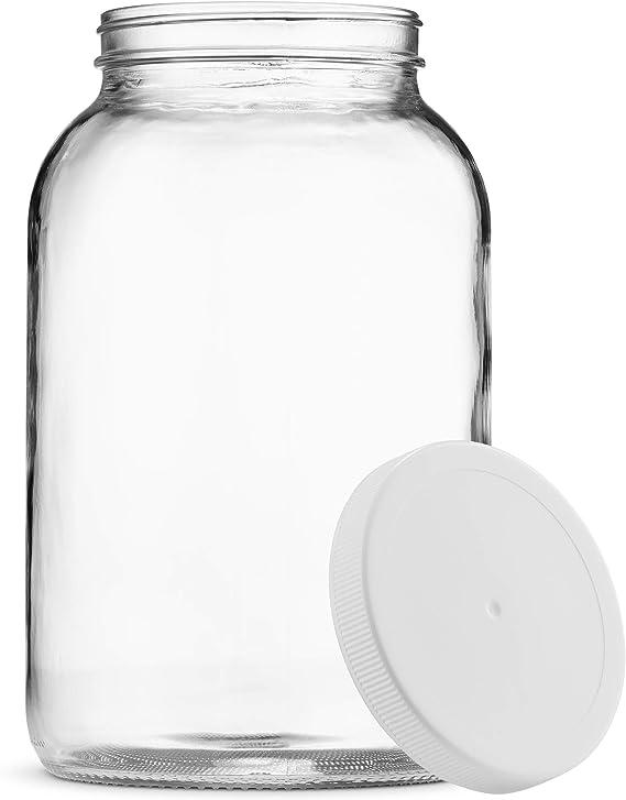 Happy Kombucha tarro de cristal de 1//2 gal/ón con tapa de rosca