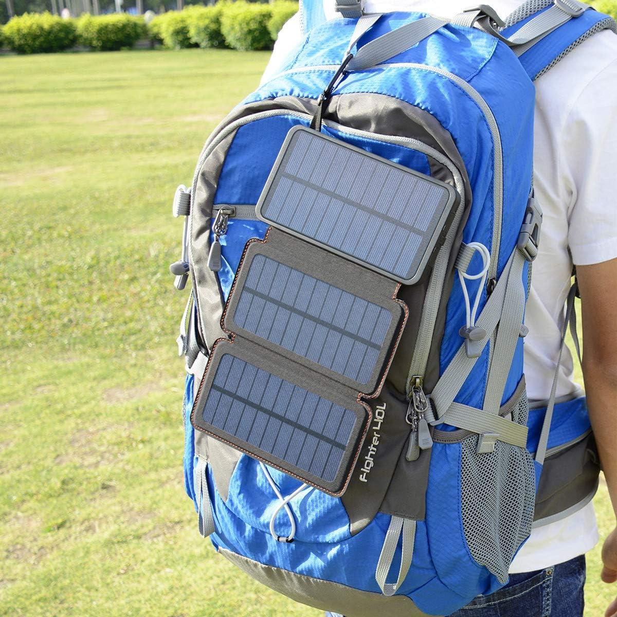 Cargador solar port/átil impermeable 24000 mAh-Negro Hiluckey
