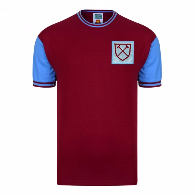 West Ham United FC Mens Official 1966 No 6 Replica Shirt