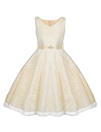 df3d72c6583b Amazon.com  Hotouch Toddler Little Big Girls Vintage Flower Girl ...