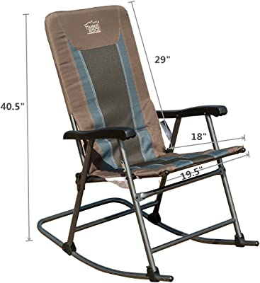TIMBER-R Rocking folding Chair patio portable Lightweight Padded support 300lbs camping outdoor