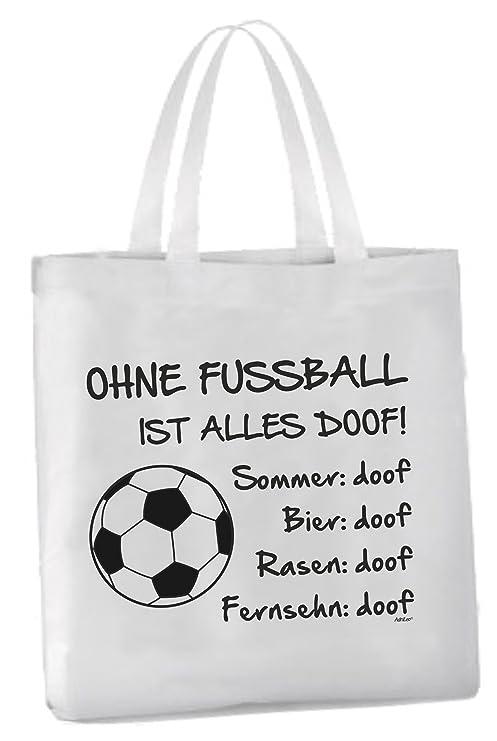 Adrileo Einkaufstasche Ohne Fussball Ist Alles Doof Amazon